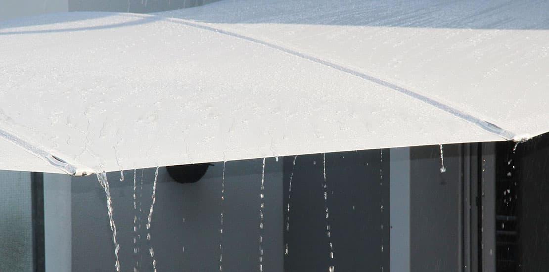 Sonnensegel, wasserdicht! Allzeit bereit bei Regen und Sturm